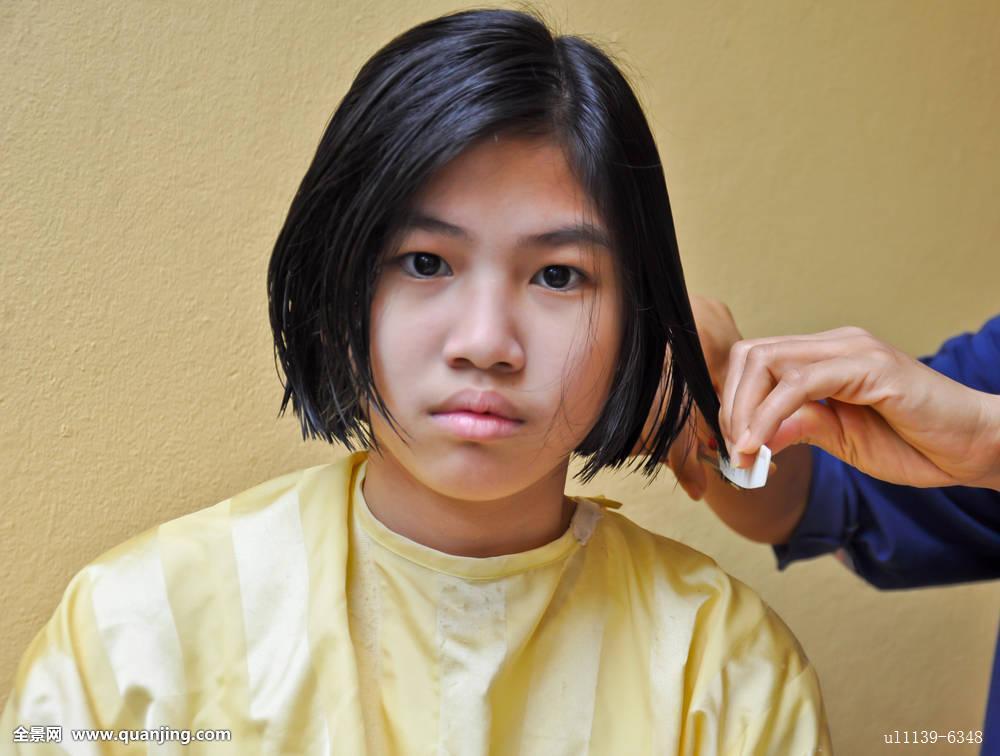 泰国女发型师分享展示图片