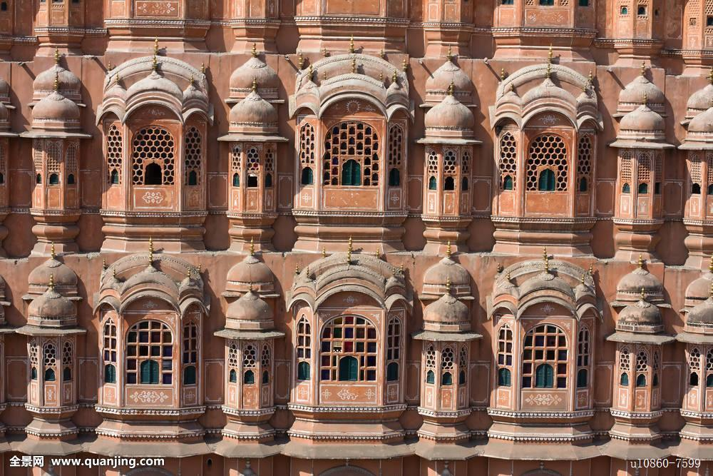 华美纪念建筑莫卧尔王朝穆斯林无人老华丽宫殿粉色地点王子图片