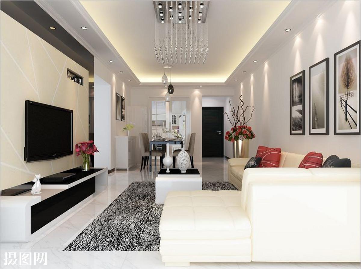 效果图,客厅颜色搭配,家具,沙发,茶几,吊顶,电视背景墙,墙纸,墙砖,灰图片