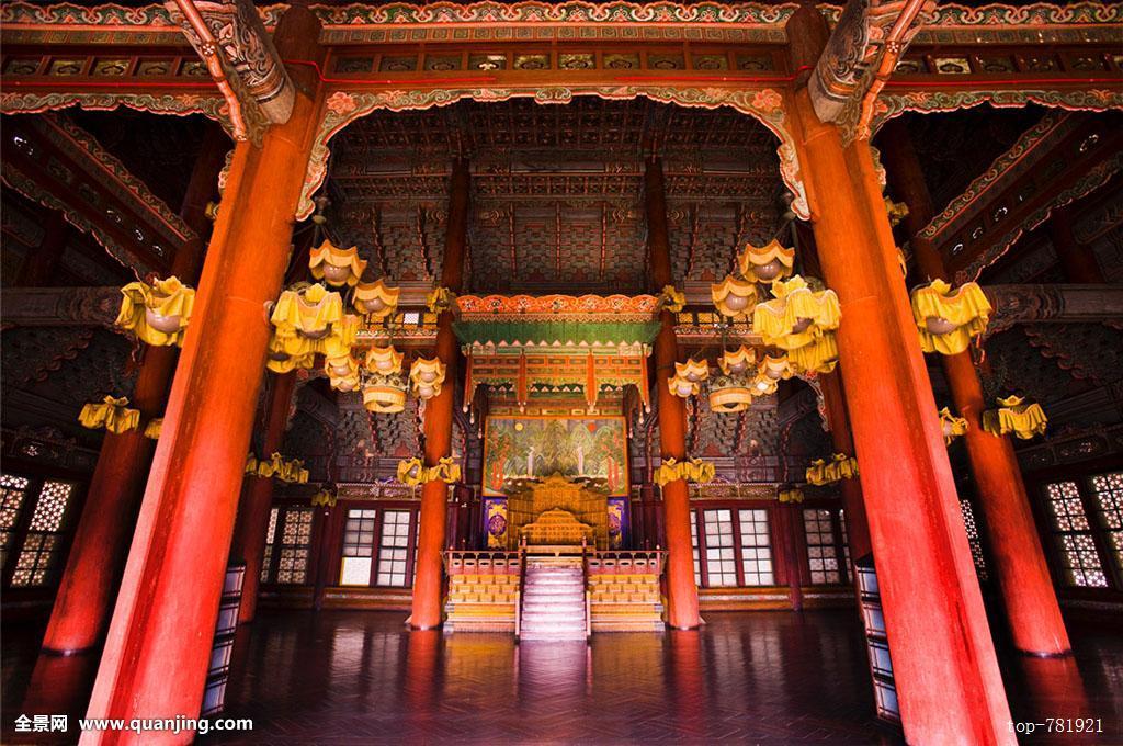 建筑,古代建筑,国宝,宫殿,皇宫,文化遗产,首尔,世界遗产,室内,宝座图片