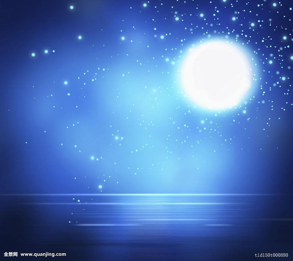 背景,无人,图案,神秘,抽象,彩色,蓝色,夜晚,星星,满月,月亮,夜空,天空图片