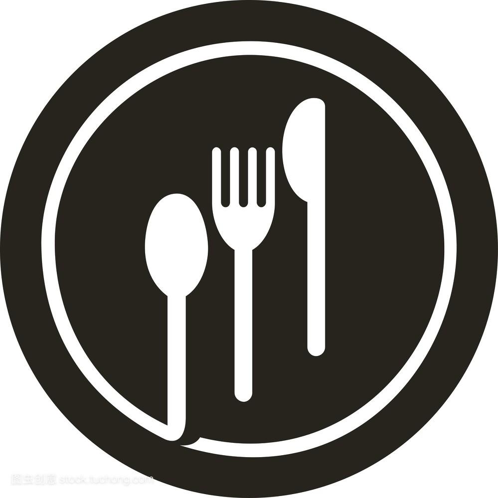 大盘子,地方菜,餐刀,餐盘,美食,绘图,空,图标,饭馆,餐叉,美术,餐饮图片