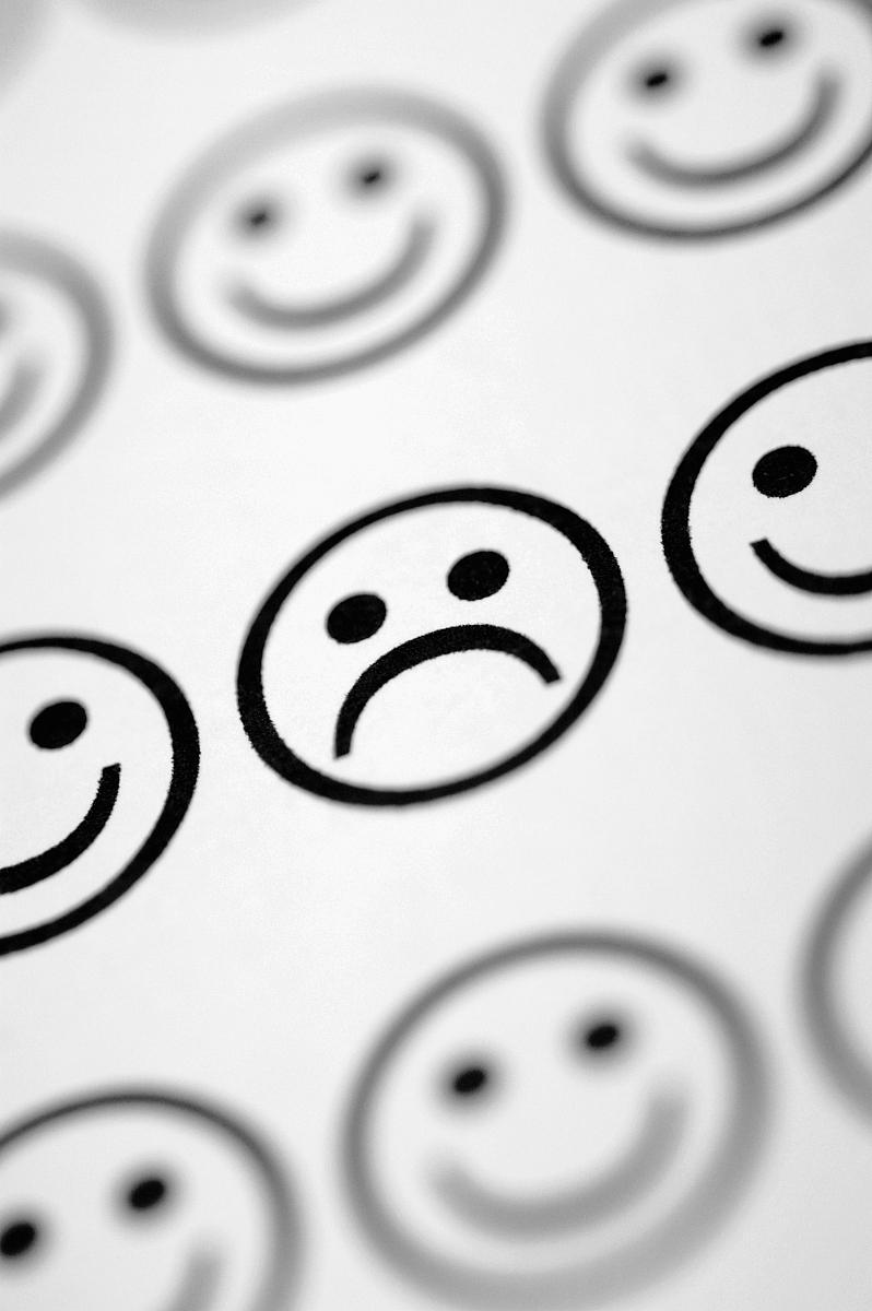 有笑脸表情的图片黑白分享展示图片