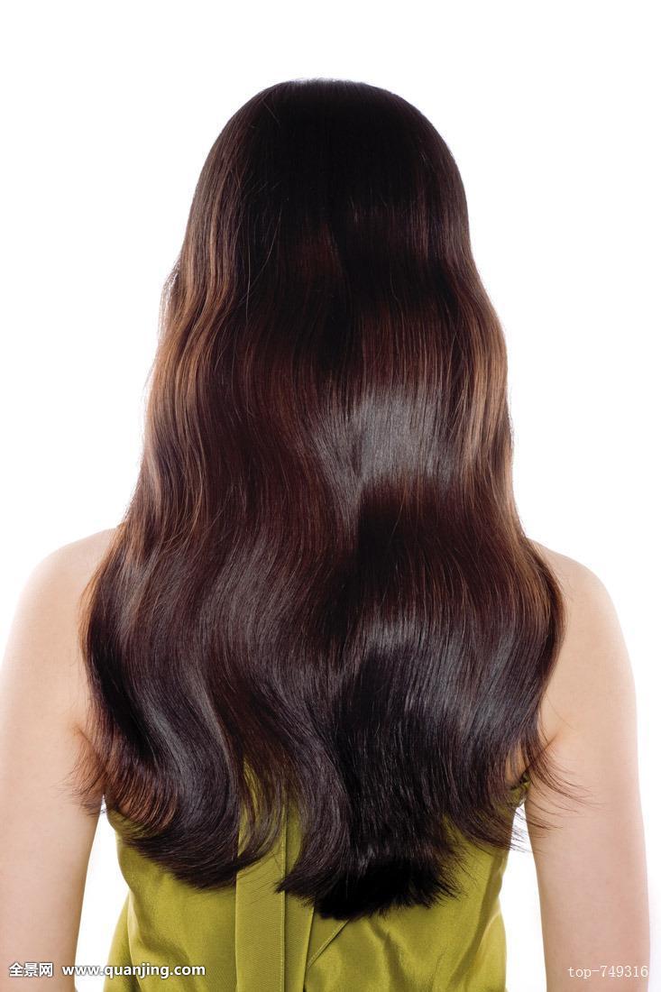 好看的女生中长发发型背影图片