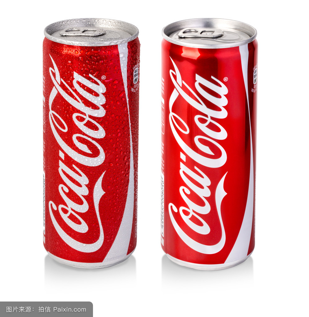 经典可口可乐罐的摄影照图片