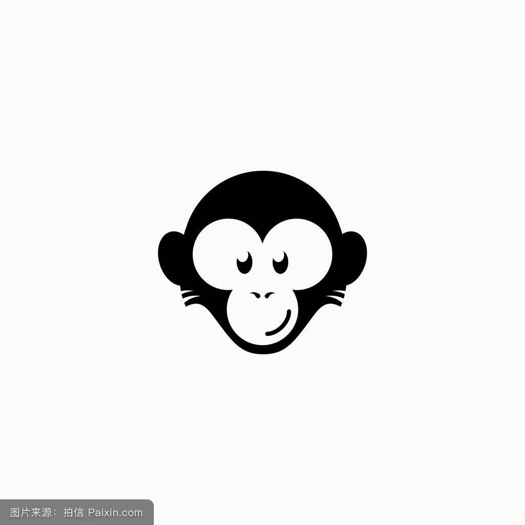 卡通,哺乳动物,贴纸,标志,性格,符号,签名,面对,平的,生肖,概念,头图片