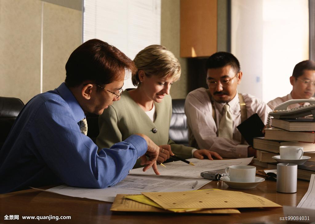 职业女性,职员,亚洲人,日本人,外国人,联系,团队,设施,办公室,衣料图片