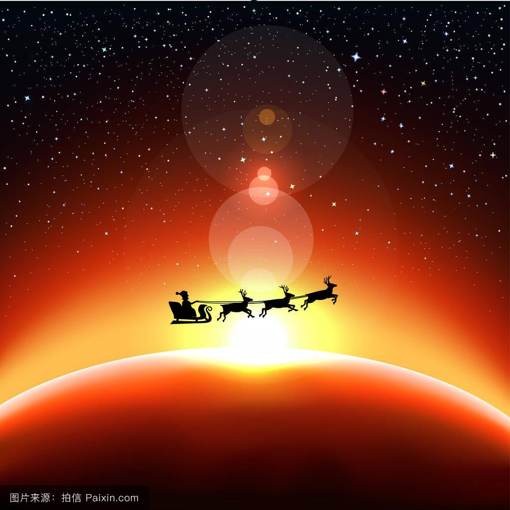 圣诞老人飞向太空