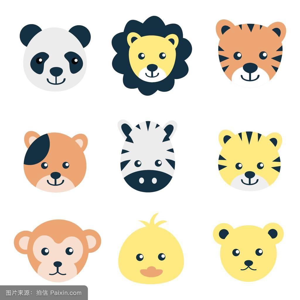 画猴子用什么颜色_卡通,猫,ace,小鸡,符号,平的,乐趣,头,颜色可爱,猴子,收集,幸福的