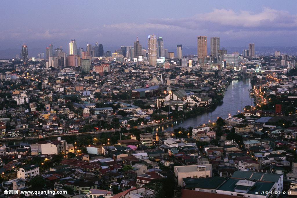 俯视城市马尼拉菲律宾亚洲