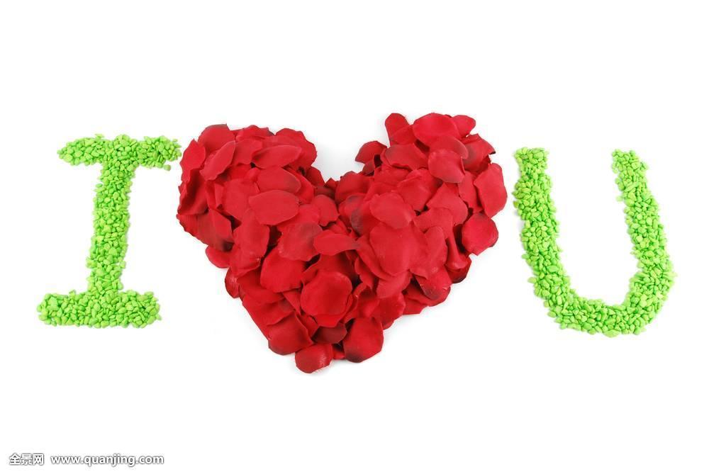 爱情,红色,心形,玫瑰花瓣,情人节图片