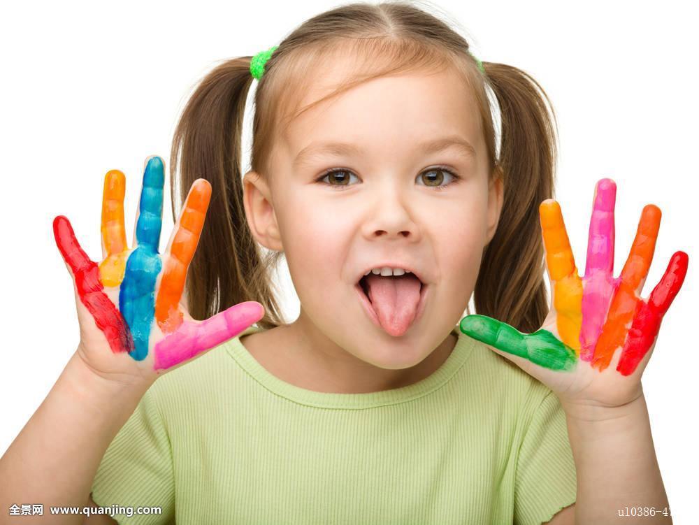 孩子,彩色,创意,可爱,抠像,教育,小学,情感,表情,女性,有趣,女孩,高兴图片