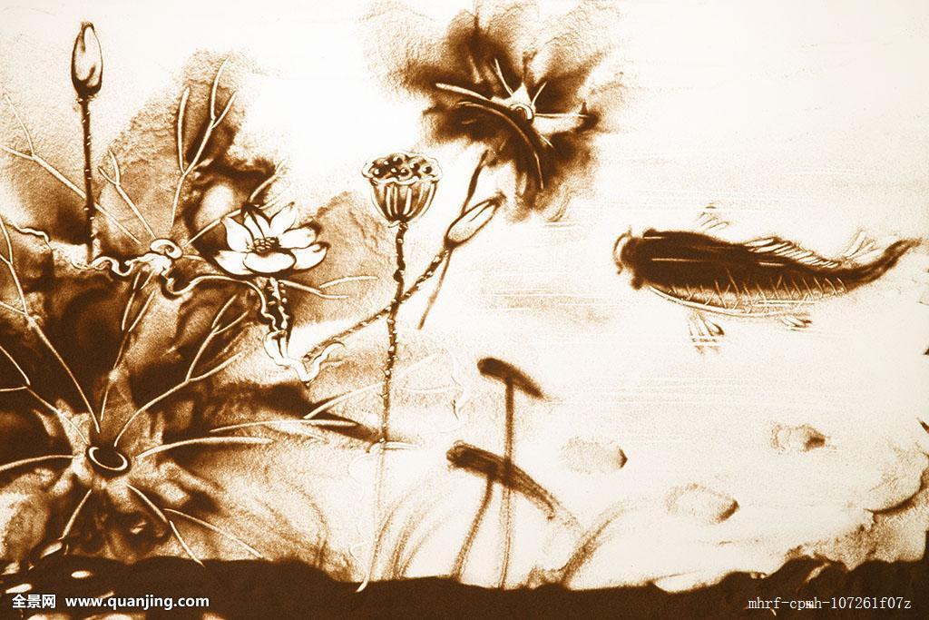 鲤鱼,灵性,式样,创作,手艺,改变,无人,线条,东亚,美景,摄影,宁静,设计图片