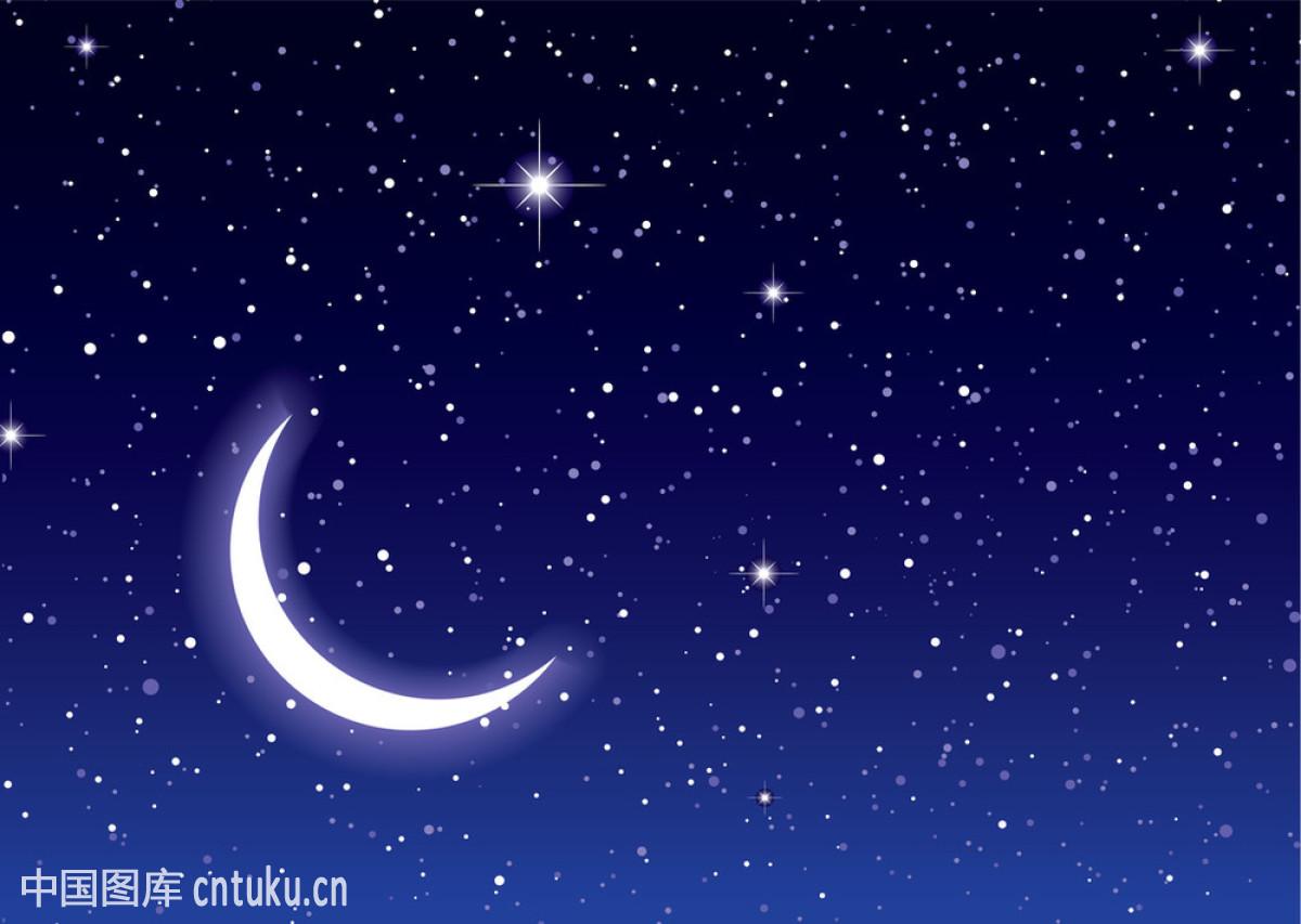 理想化的,山,深的,探险,天空,天文学,透明,无限,星球,星星,夜晚,月亮图片