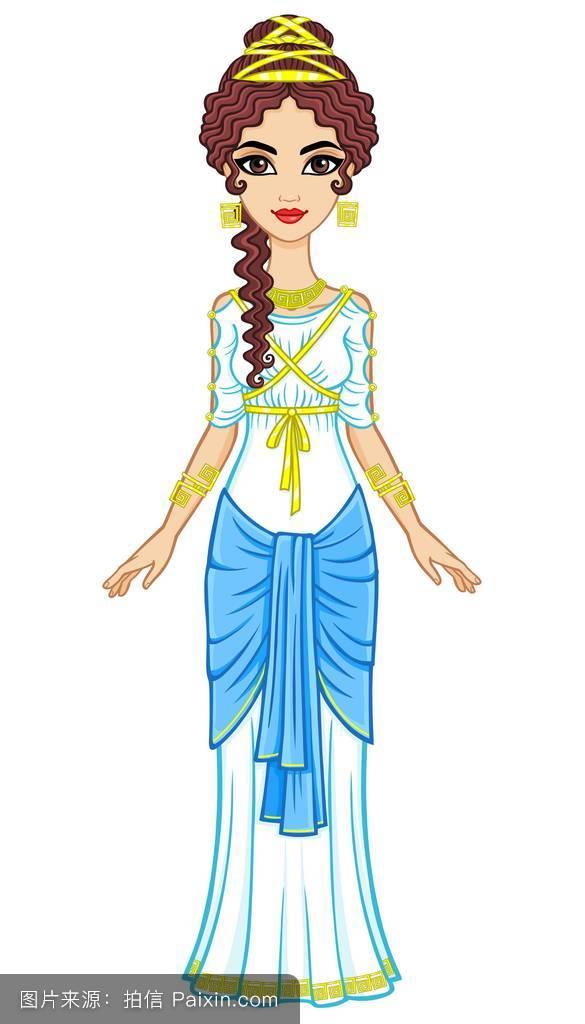 古代衣服简笔画-美丽的古装衣服简笔画_古代衣服简笔画女装_一步一步图片