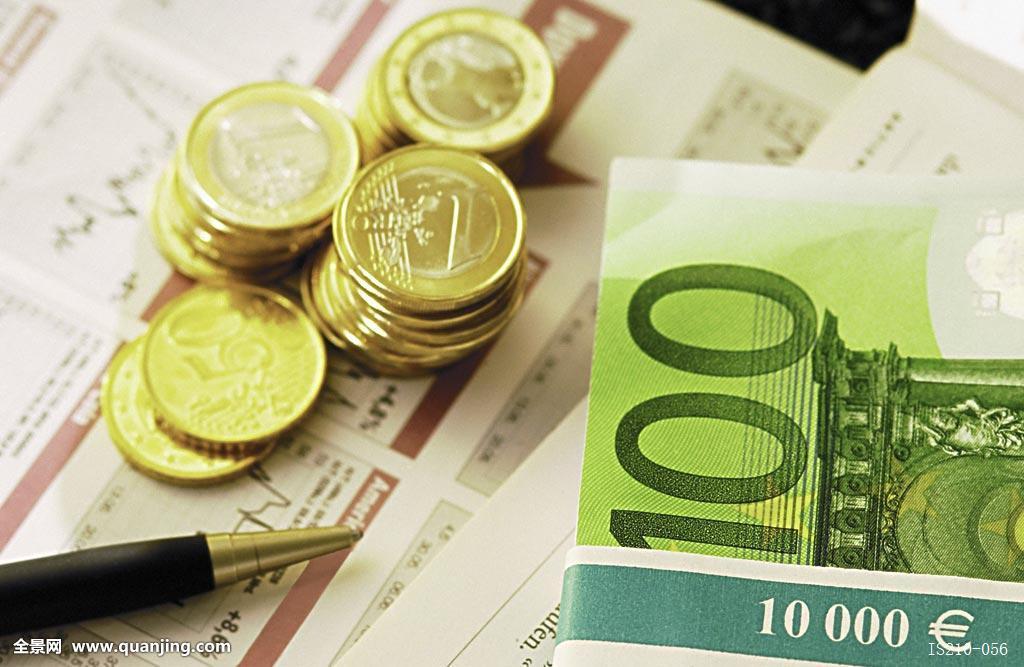 硬币,大陆,费用,国家,货币,欧盟,欧元,欧洲,欧共体,汇率,金融,100欧元图片