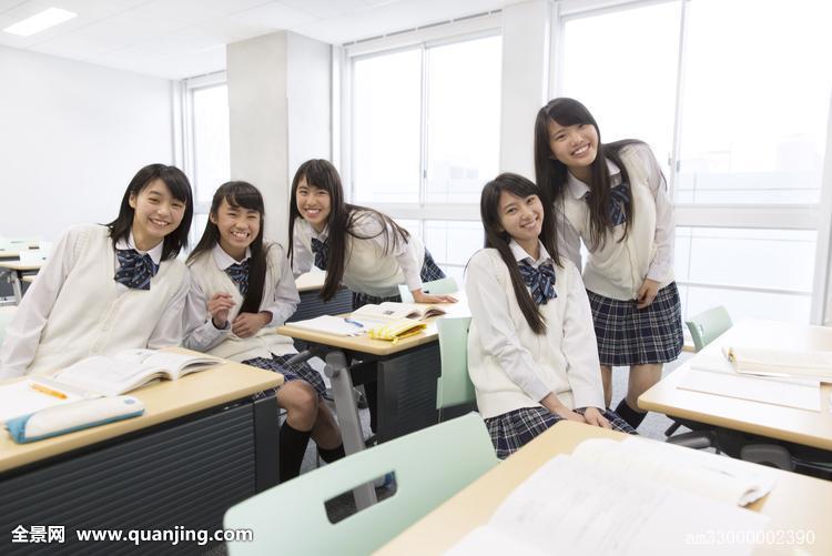 高中�yo�z+���_头像,愉悦,高中,女孩,教室,坐,桌子