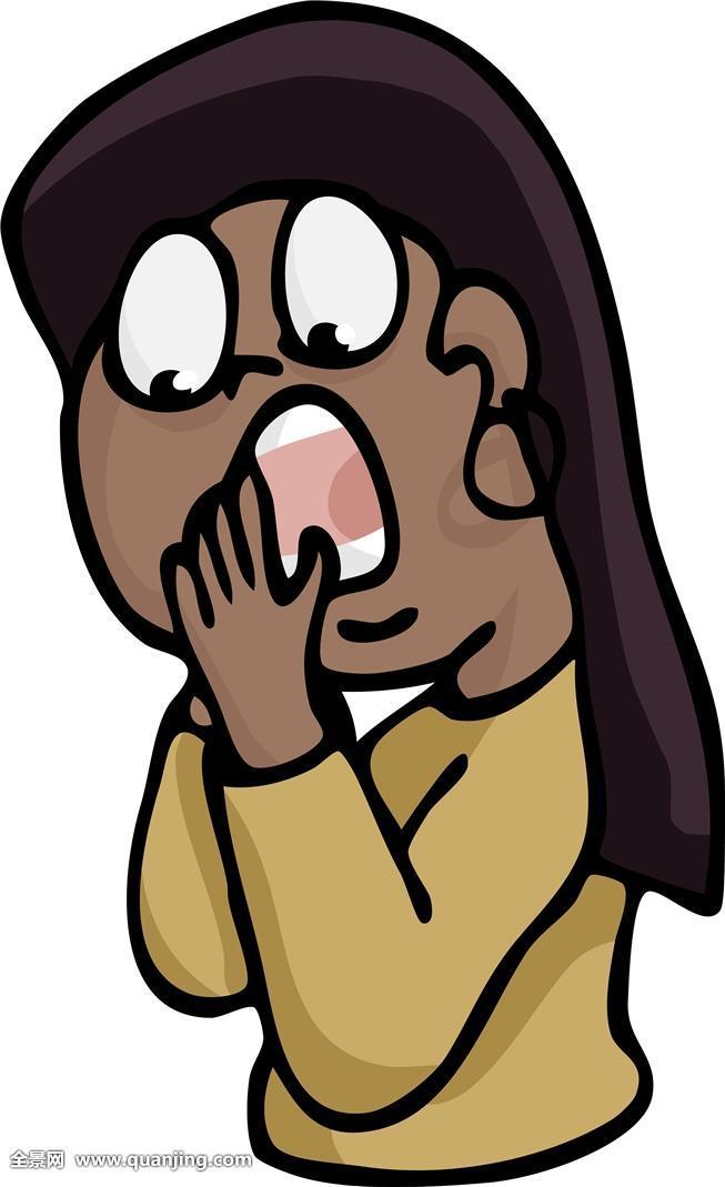 吓人,恐惧,卡通,矢量,惊恐,怀疑,风骚,可爱,年轻,年幼,圆胖,圆润,女孩图片