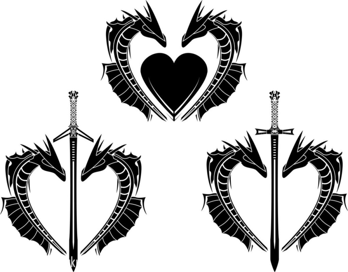 人类的心脏,设计,神符,神话,矢量图,图片规格,纹身,武器,形状,眼镜蛇图片