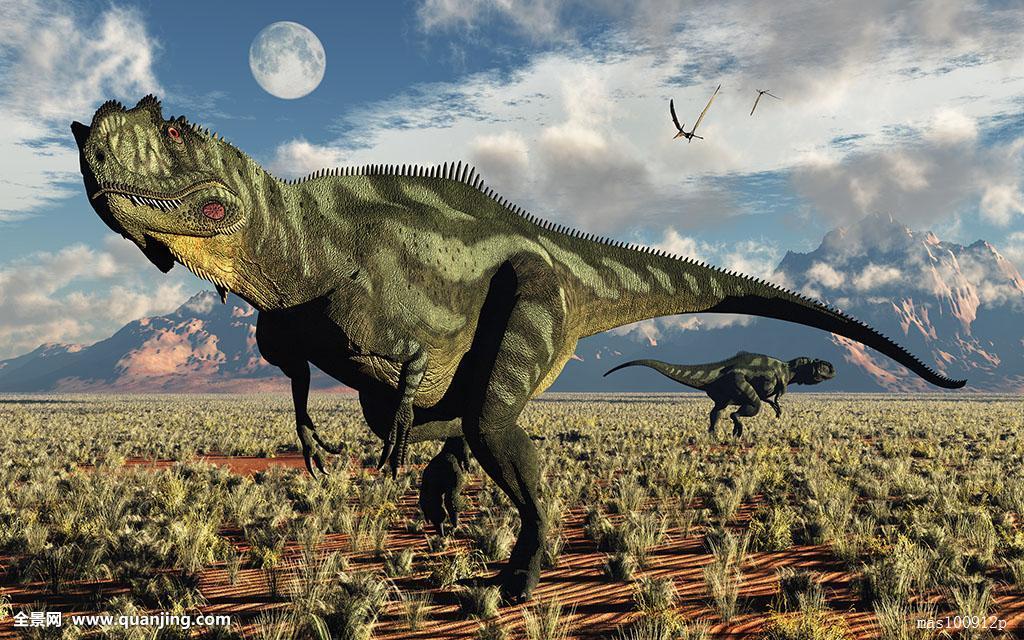 什么恐龙最厉害囹�a_一对,食肉动物,恐龙,侏罗纪,时期,现代,白天