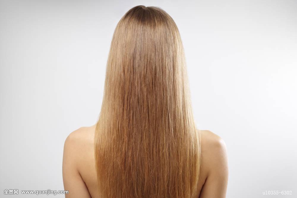 栗色染发长直发发型,,光是背影就已经被迷住了吧,这样一头垂顺长发图片