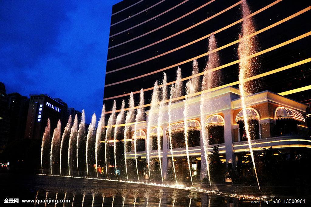 水平构图旅行永利澳门渡假村澳门现代路氹城音乐喷泉摄影彩色