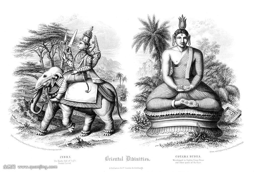 动物,骑,骑乘,宗教,坐,佛教,大象,印度教,盘腿坐,单色调,黑白,佛图片