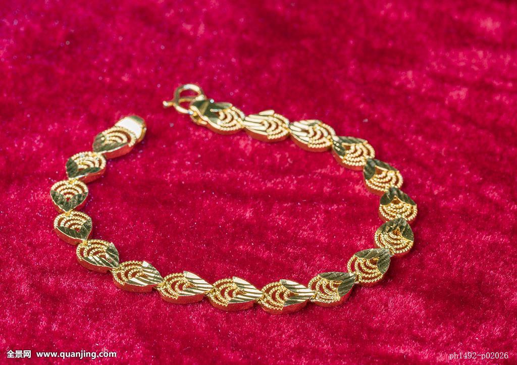 黄金手链图片
