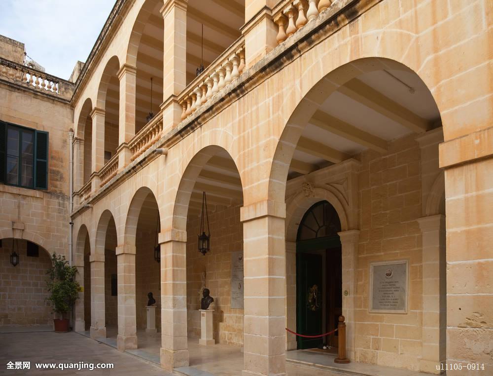 住宅,马耳他,宫殿,地中海,花园,拱门,柱子,观光,城镇,房子,岛屿,地标图片