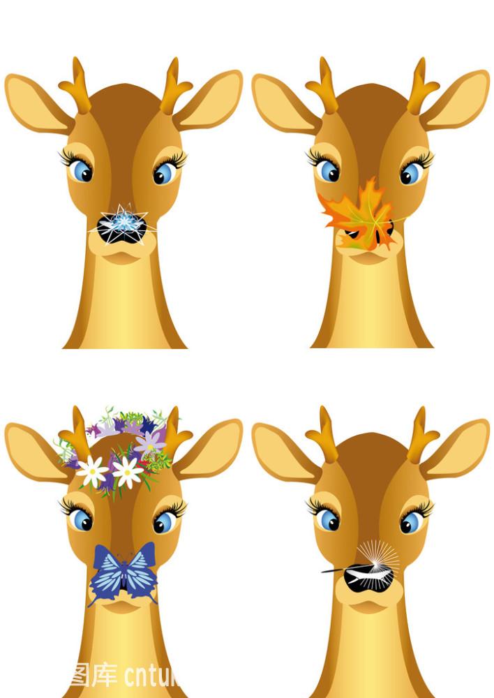 不同季节的小鹿图片