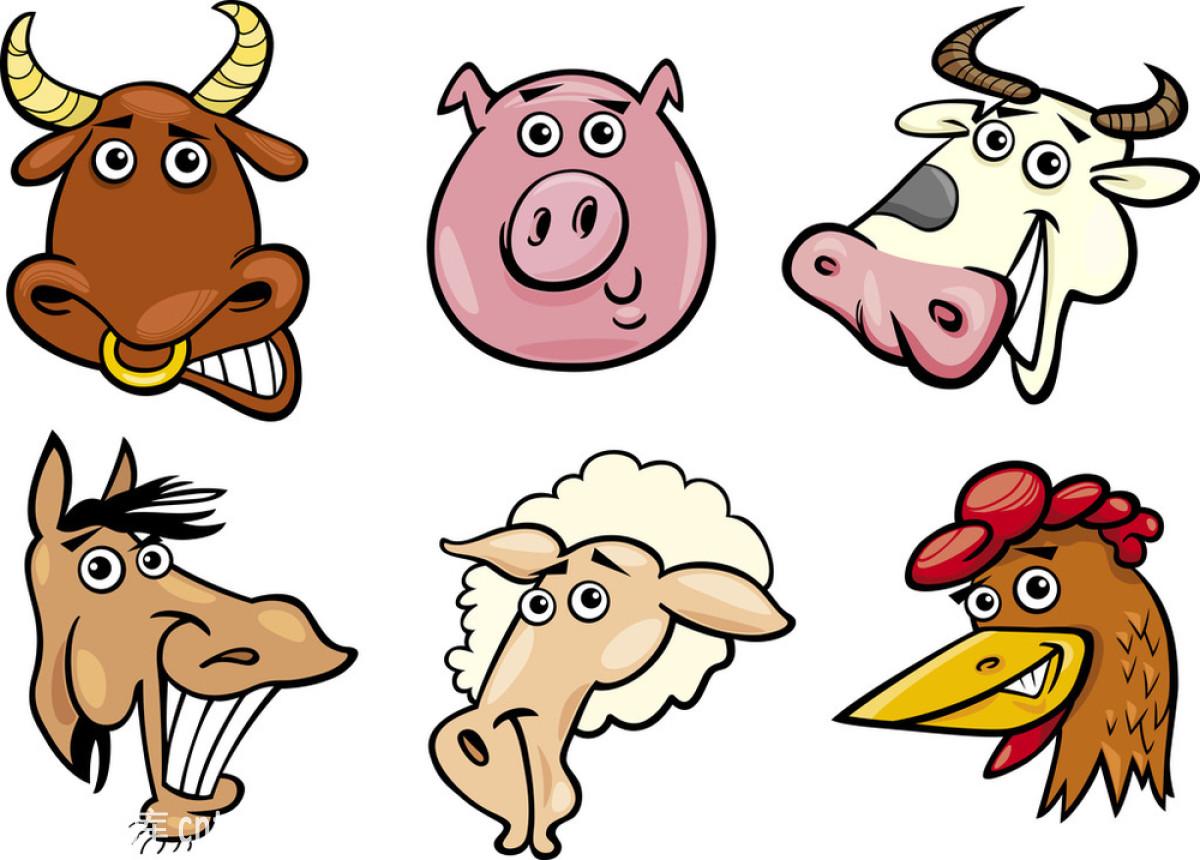 标志,濒危物种,动物,动物学,讽刺画,符号,公鸡,公牛,吉祥物,家禽图片