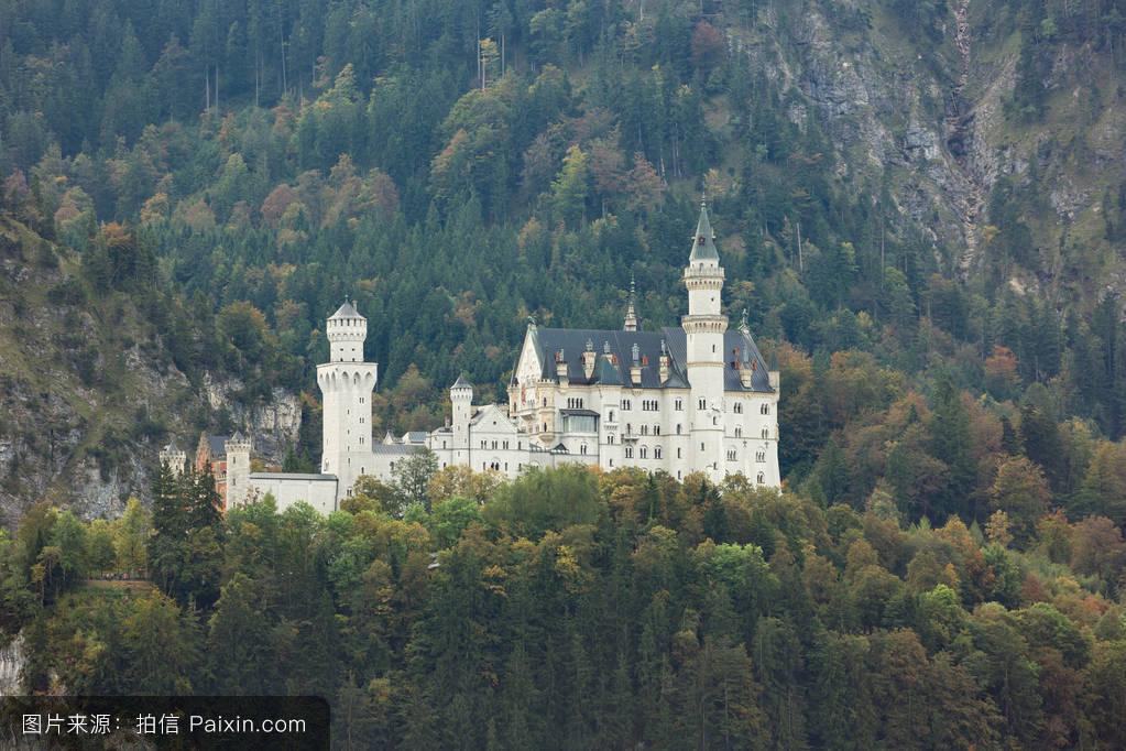 山���!�-��.�9`a�f-:##_电影的位置,住房,阿尔卑斯山脉,巴伐利亚,自然,建筑学,德国,城堡