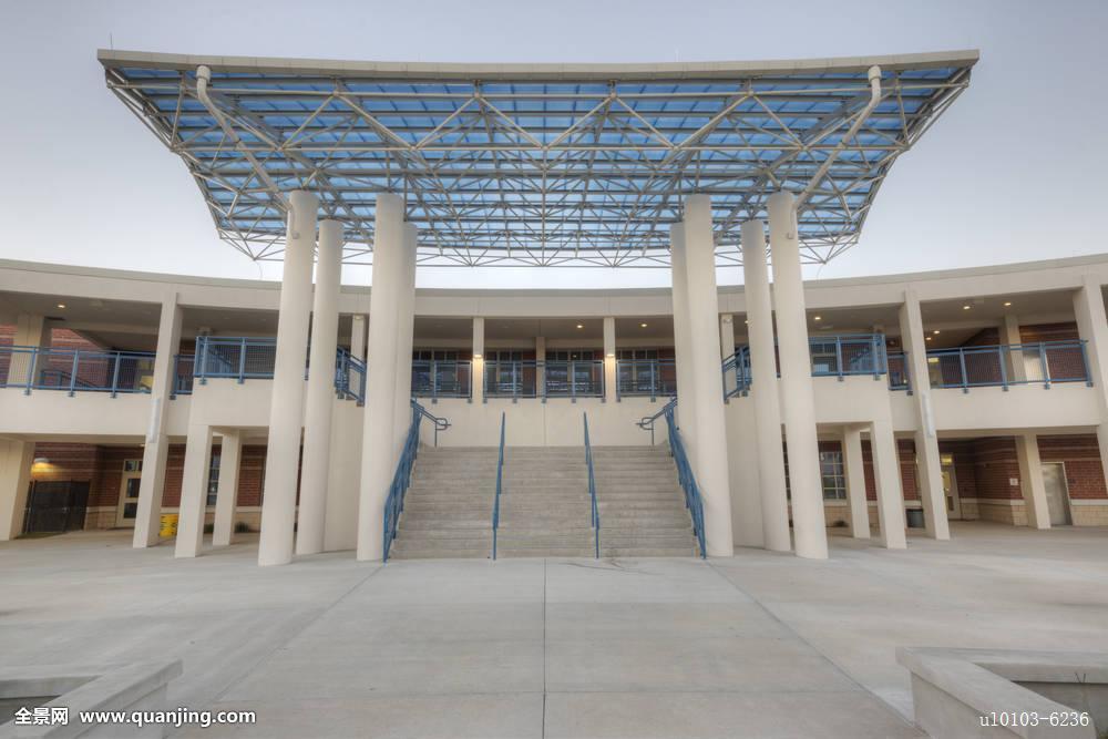 高中�y��-l9n��c%_院落,篷子,遮盖,区域,半透明,建筑,高中,佛罗里达,黃昏