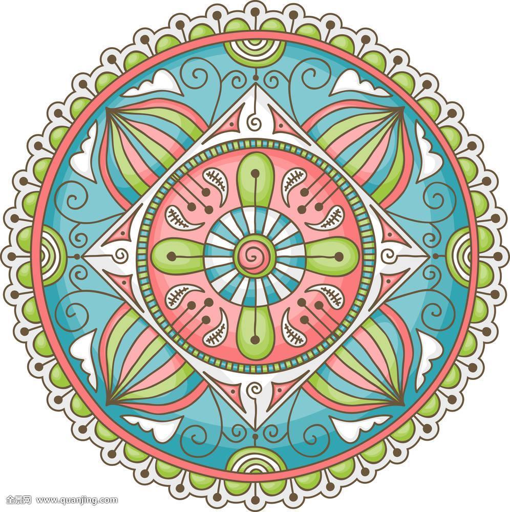 抽象,艺术,佛教,圆,文化,装潢,装饰,设计,花,几何,印度教,插画,宗教图片