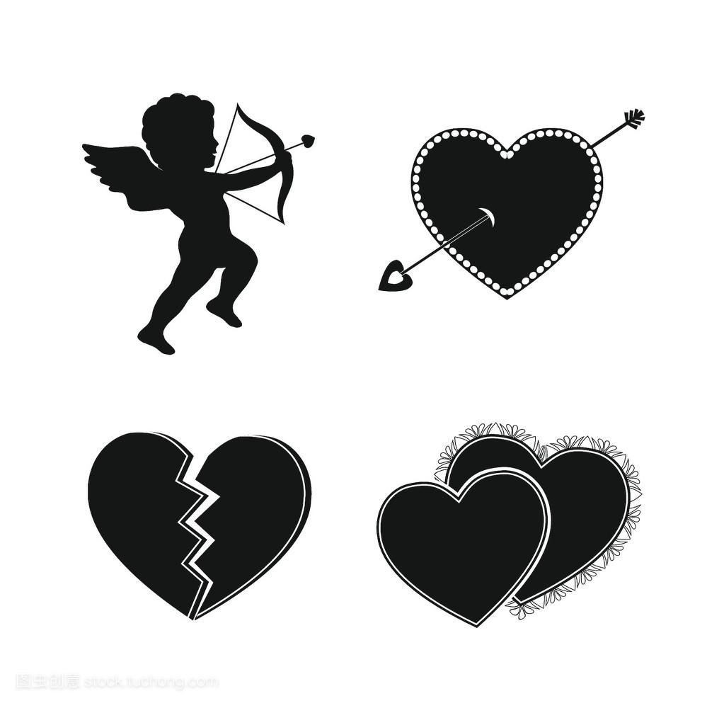 形状,孤立,设计,鞠躬,丘比特,回形针,弓,弯身,天使,画画,假期,小天使图片