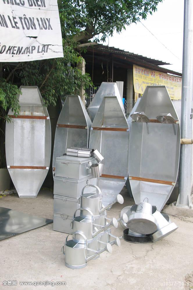洒水壶,船,不锈钢,锡,制造,物品,工艺,工具,器具,亚洲,越南图片