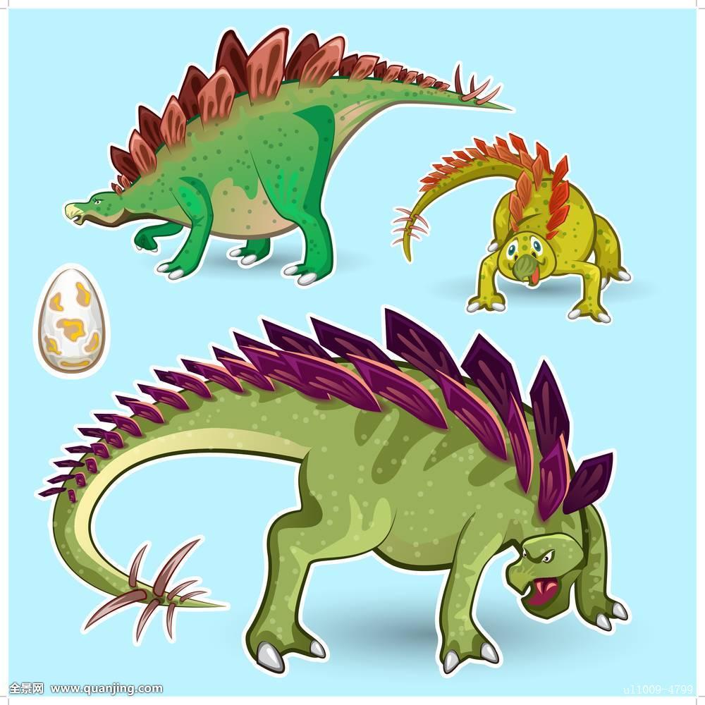 恐龙,不干胶图片