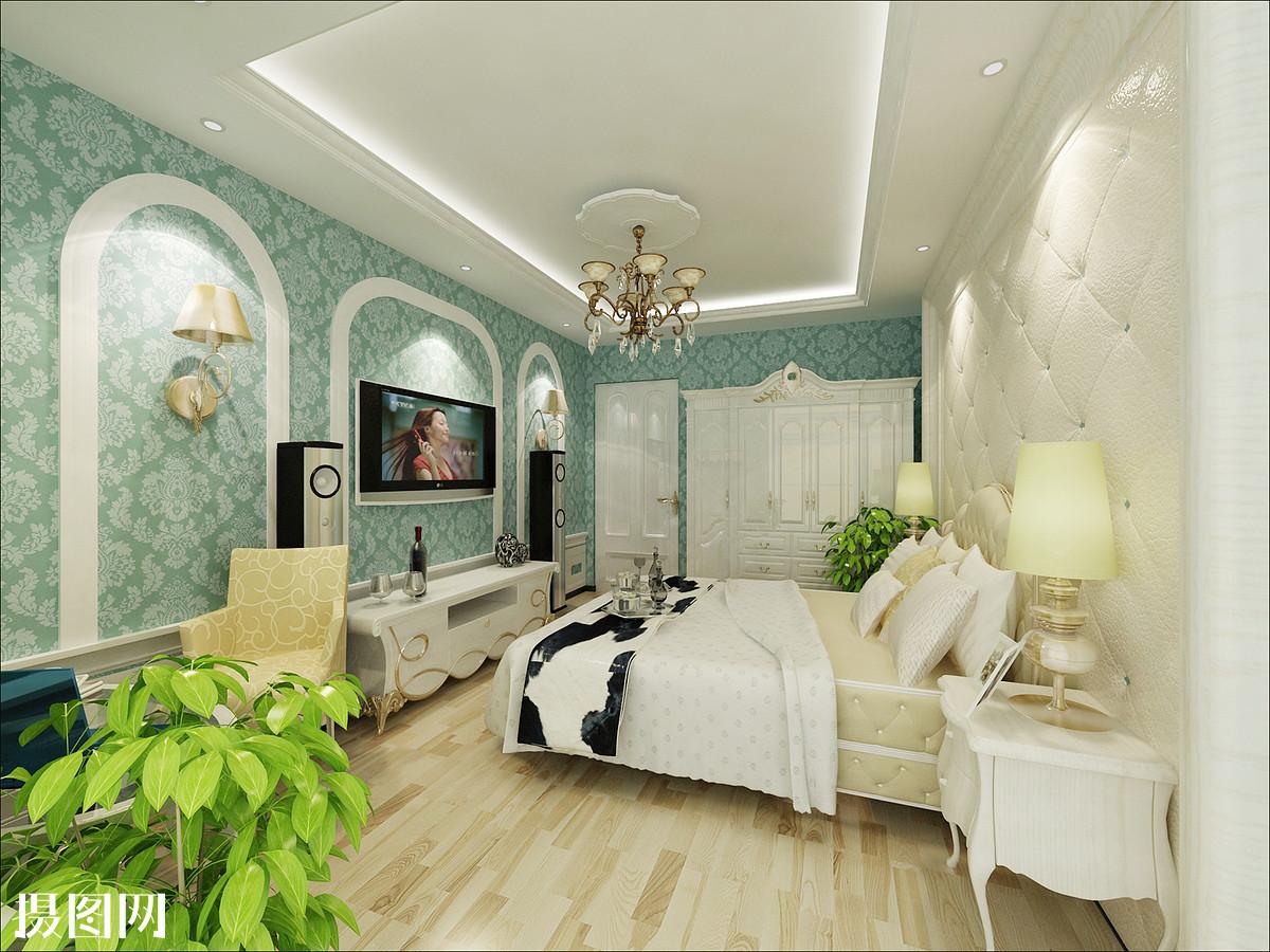 卧室效果图,卧室,欧式卧室,简欧,欧式风格,主卧室,主卧室效果图,公主