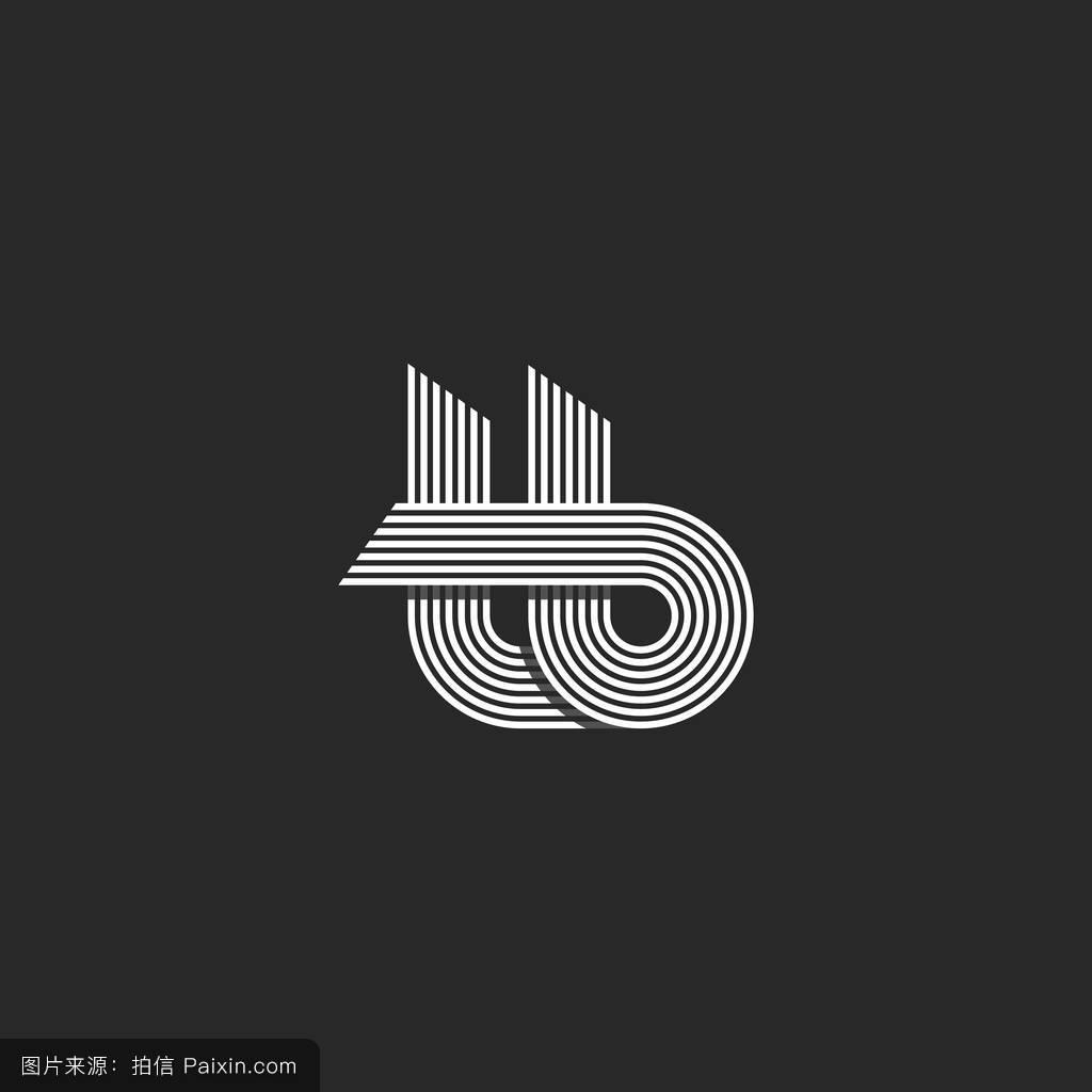 手工制作的,标志,现代的,排版,符号,时尚的,首字母,创意设计,铭文图片