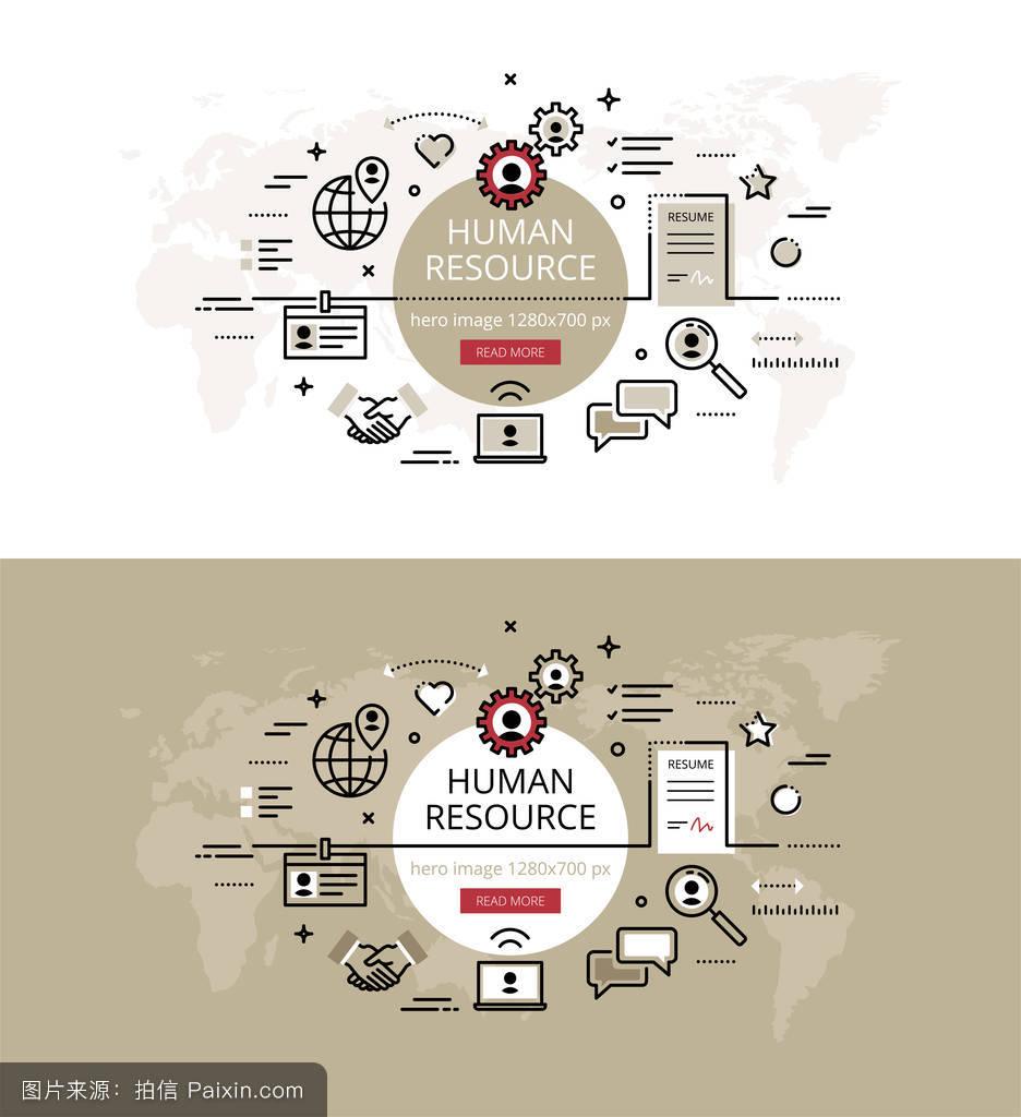 简历的格式网页横幅握手招聘概述笔记本电脑人力资源明星齿轮