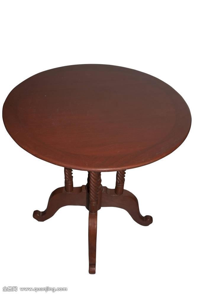 褐色,圆,桌子图片