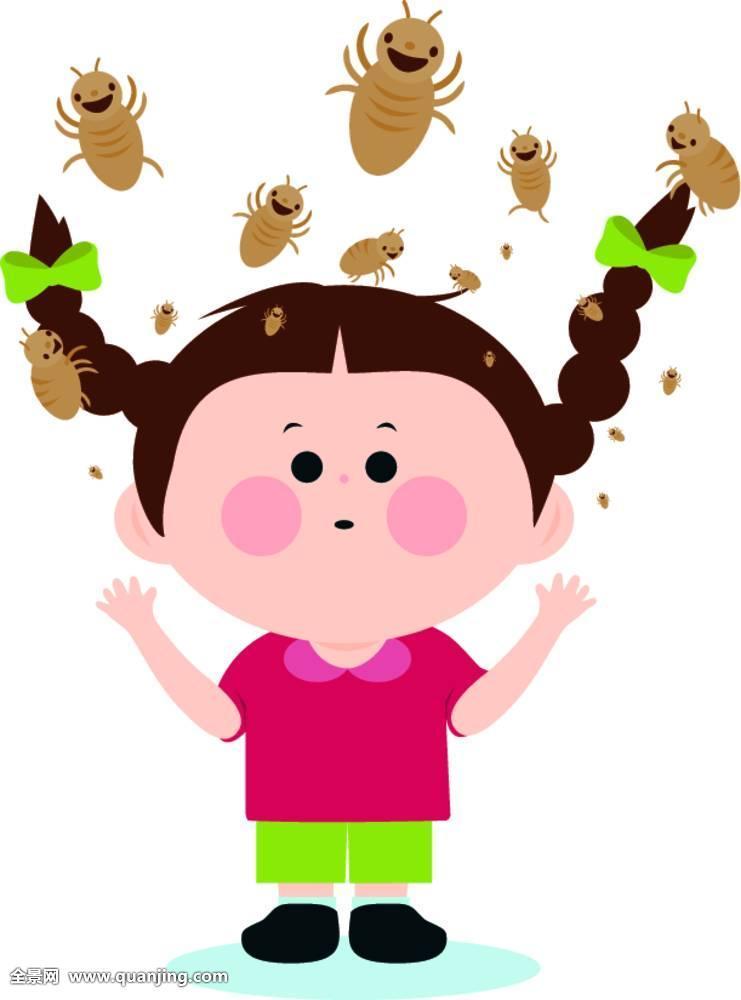 虱子在头发里的图片展示图片