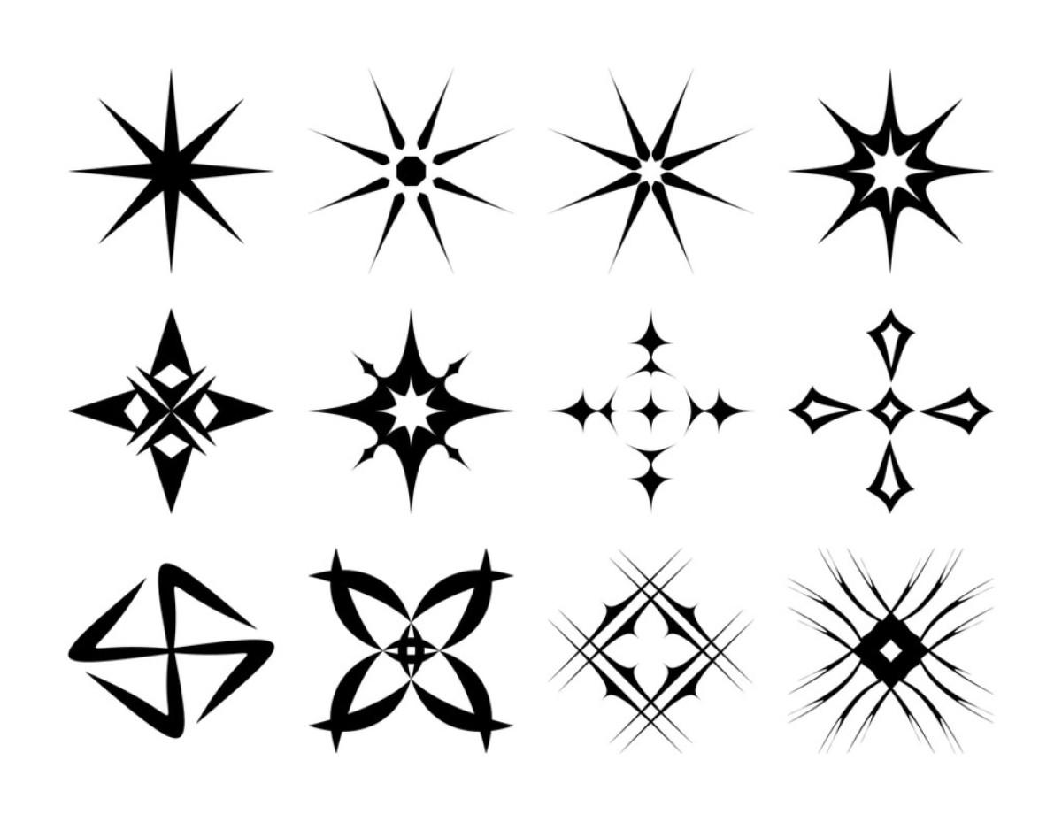脚踝时尚镂空星星纹身_纹身图案图片