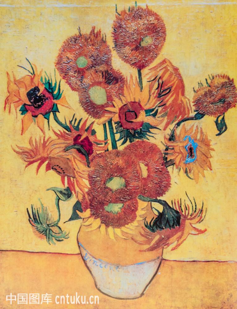 梵高的 向日葵 分别代表什么