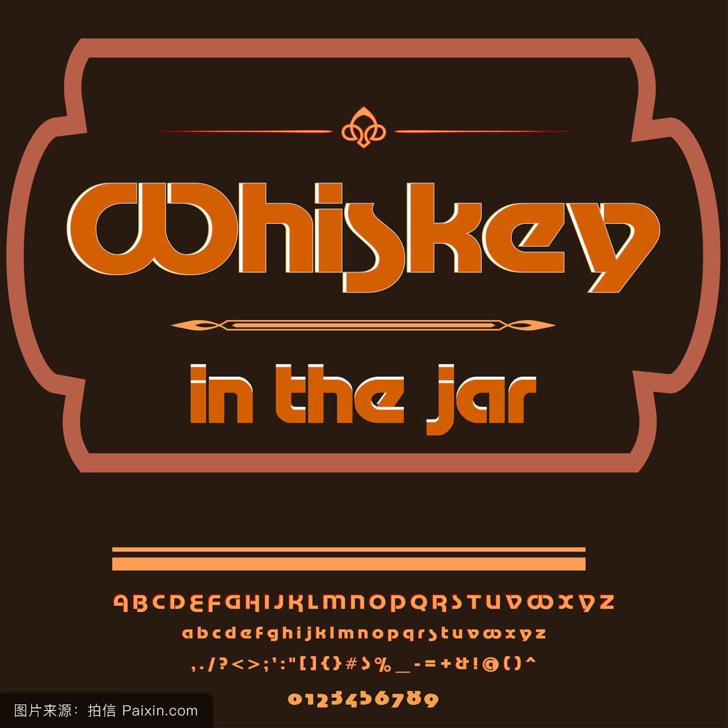 字体脚本字体威士忌在瓶旧货脚本字体矢量字体标签和任何类型的设计图片