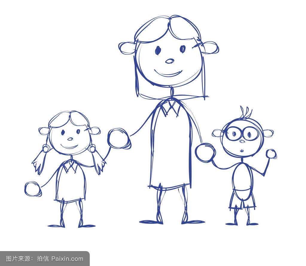 儿童微笑表情简笔画分享展示图片