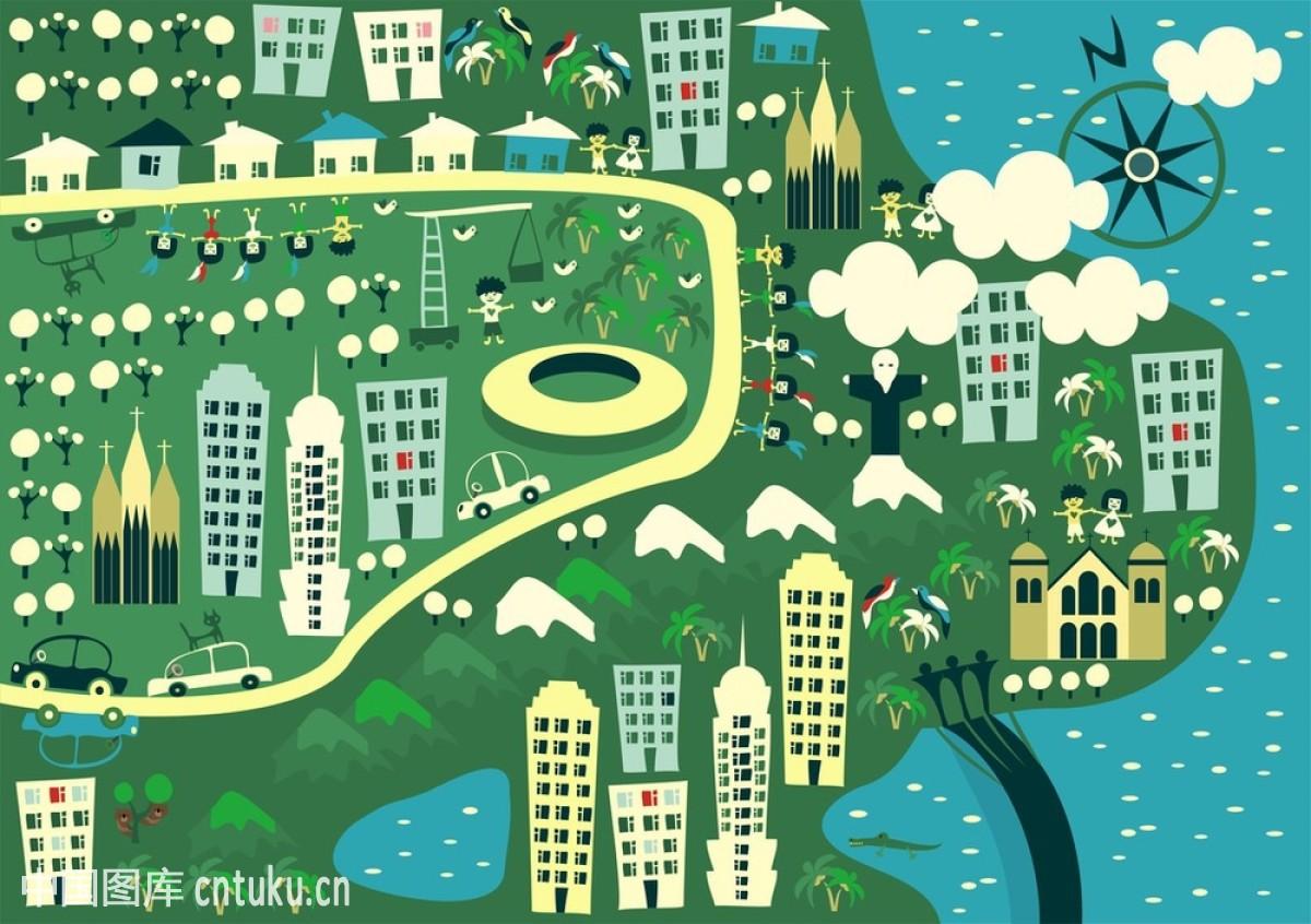 巴西,拜访,北,城市,城镇,瓷砖,地区类型,地图,公园,宫殿,海洋,户外图片