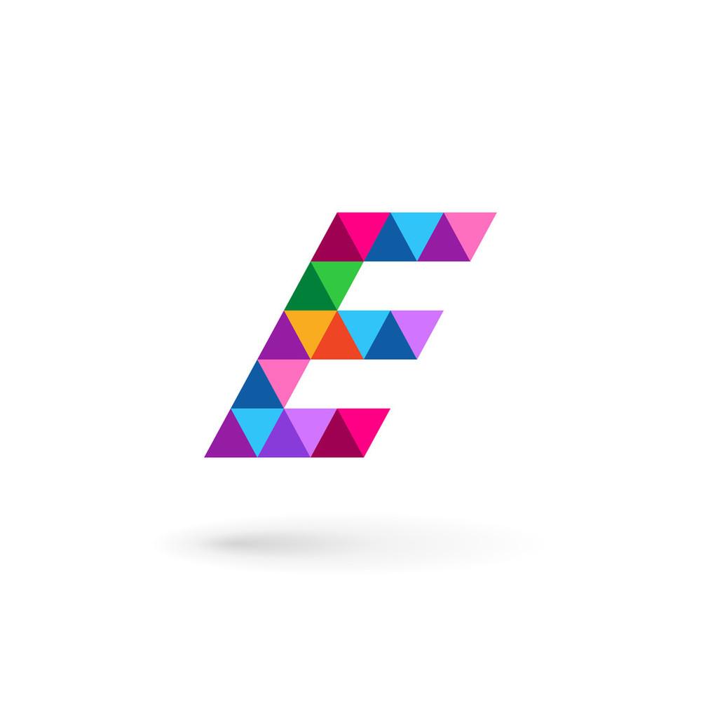 字母e马赛克logo图标设计模板元素图片