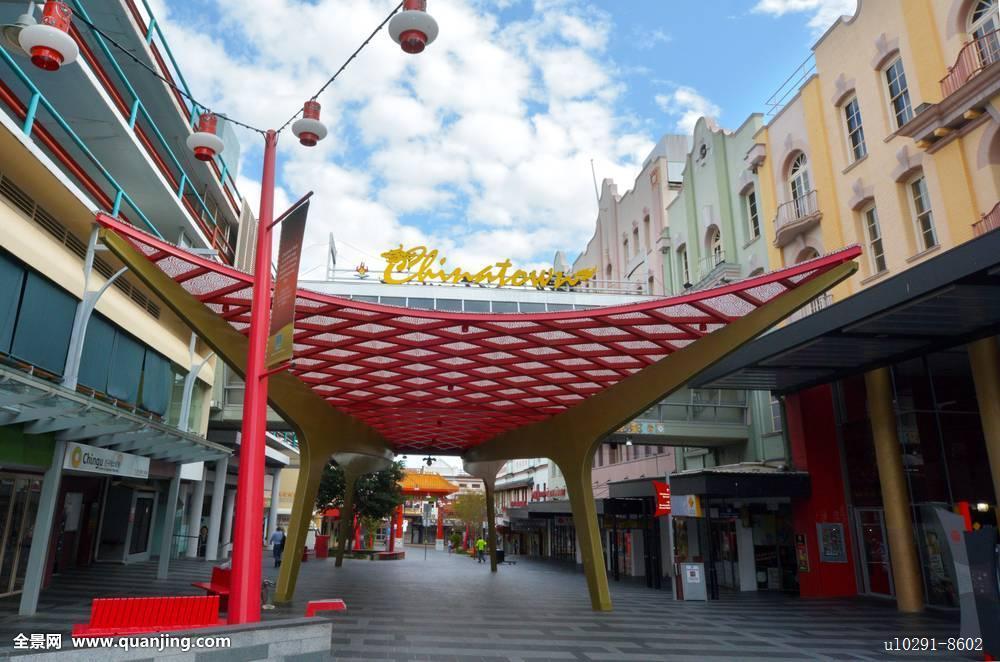唐人街,布里斯班,澳大利亚图片