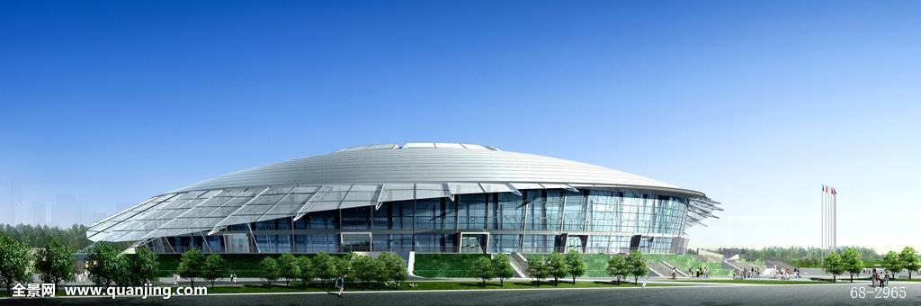 北京工业大学体育馆效果图,体育场馆,奥运场馆,标志性建筑,中国摄影图片
